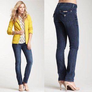 Hudson Carly Midrise Straight Jeans 29 Dark Wash